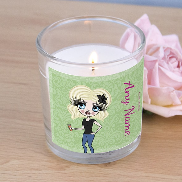 ClaireaBella Green Floral Scented Candle - Image 2