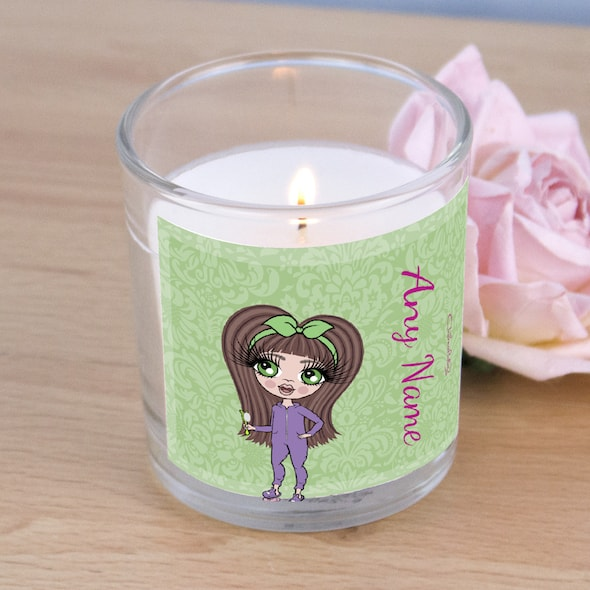ClaireaBella Girls Green Floral Scented Candle - Image 2