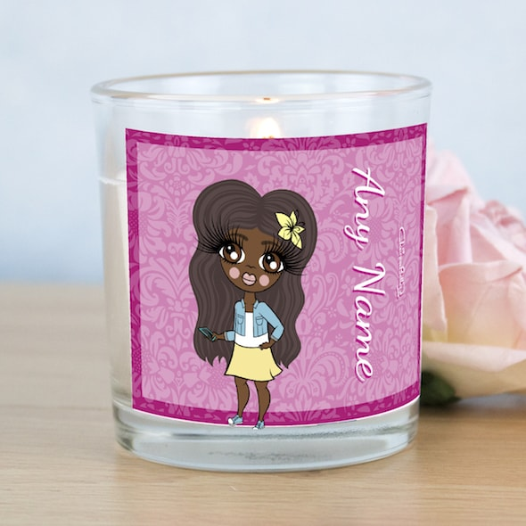 ClaireaBella Girls Lilac Floral Scented Candle - Image 1