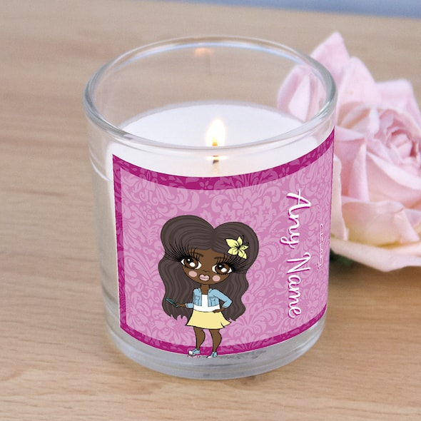 ClaireaBella Girls Lilac Floral Scented Candle - Image 2