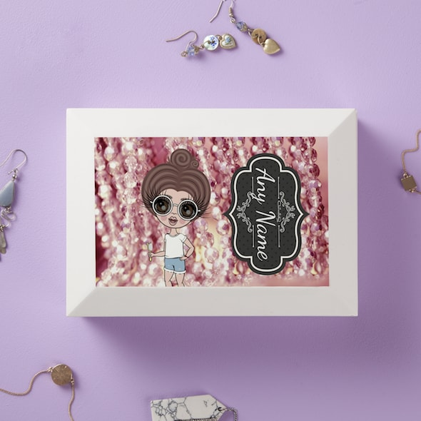 ClaireaBella Girls Pink Necklace Jewellery Box - Image 1