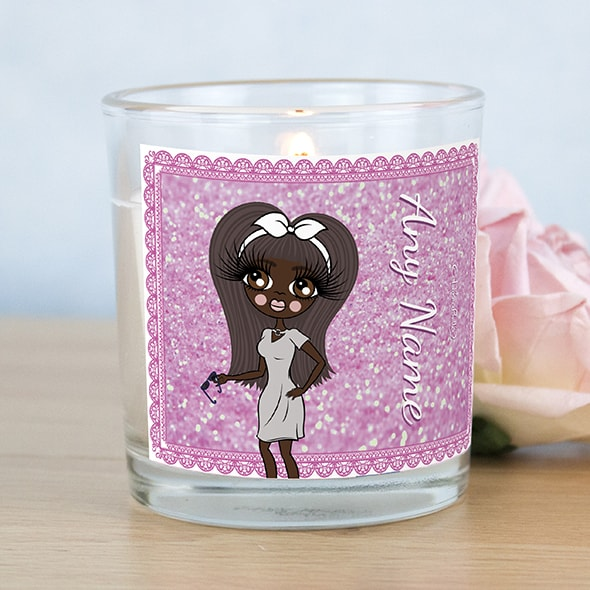 ClaireaBella Pink Glitter Scented Candle - Image 1
