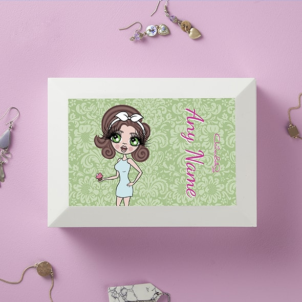 ClaireaBella Green Floral Jewellery Box - Image 1