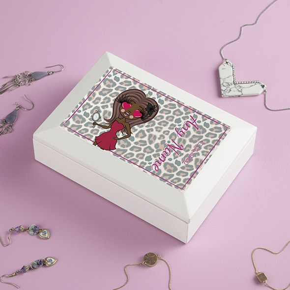 ClaireaBella Pink Leopard Print Jewellery Box - Image 2