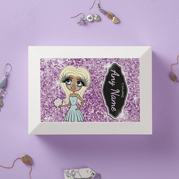 ClaireaBella Pink Crystal Jewellery Box - Image 1