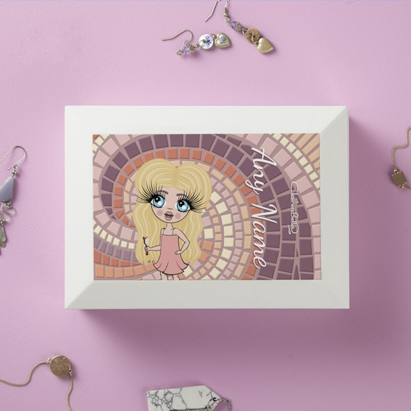 ClaireaBella Girls Mosaic Print Jewellery Box - Image 1