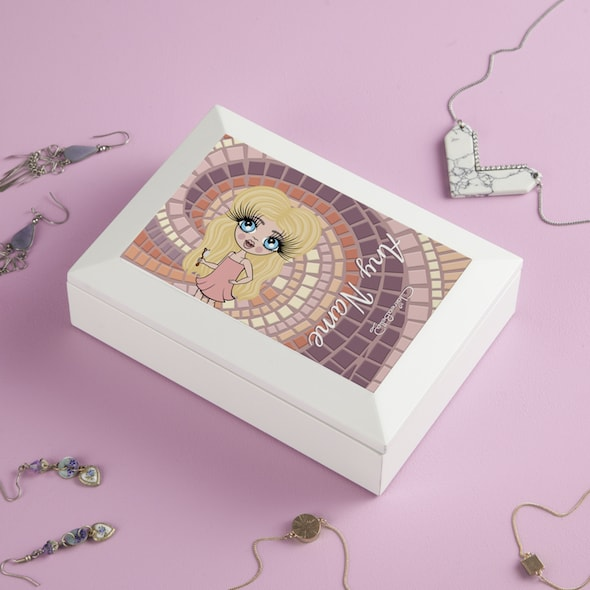 ClaireaBella Girls Mosaic Print Jewellery Box - Image 2
