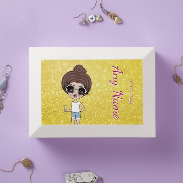 ClaireaBella Girls Sunshine Shimmer Jewellery Box - Image 1