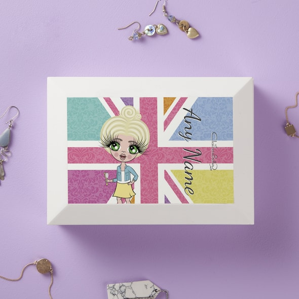 ClaireaBella Girls Union Jack Jewellery Box - Image 1