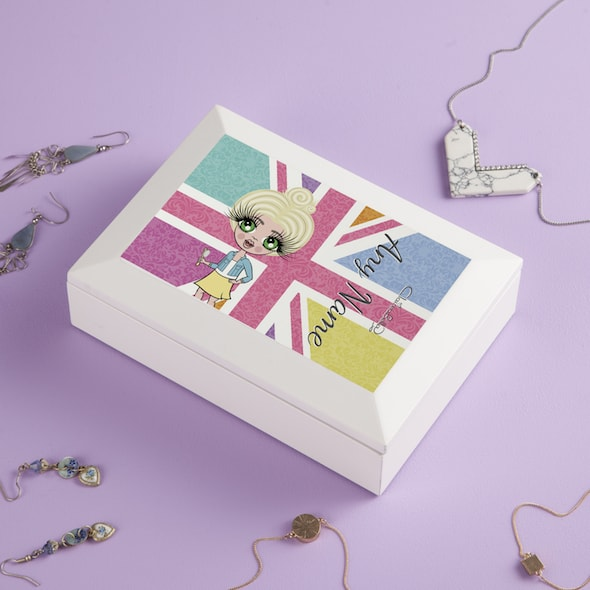 ClaireaBella Girls Union Jack Jewellery Box - Image 2
