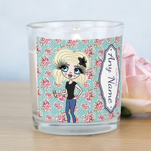 ClaireaBella Rose Print Scented Candle - Image 1