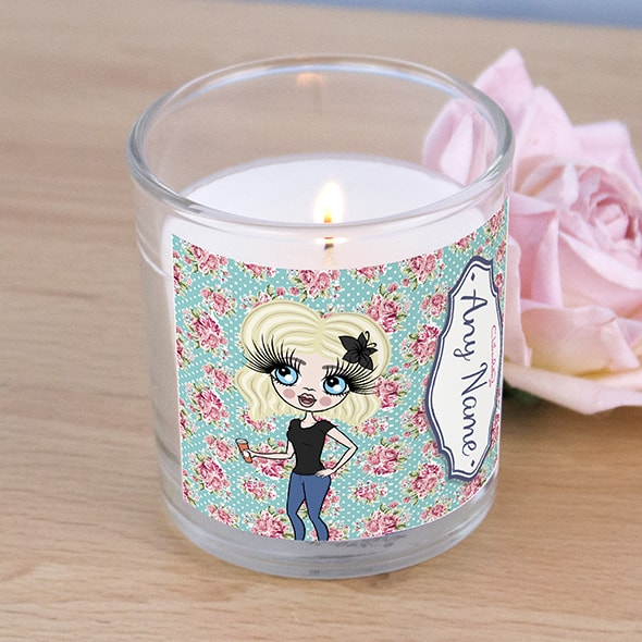 ClaireaBella Rose Print Scented Candle - Image 2