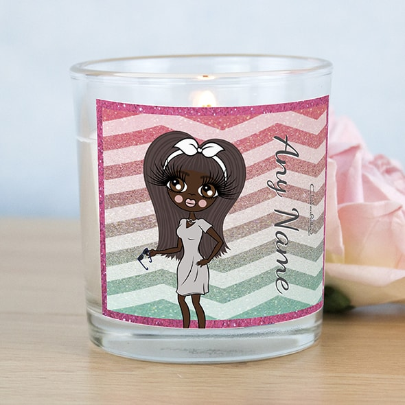 ClaireaBella Zig Zag Sparkle Scented Candle - Image 1