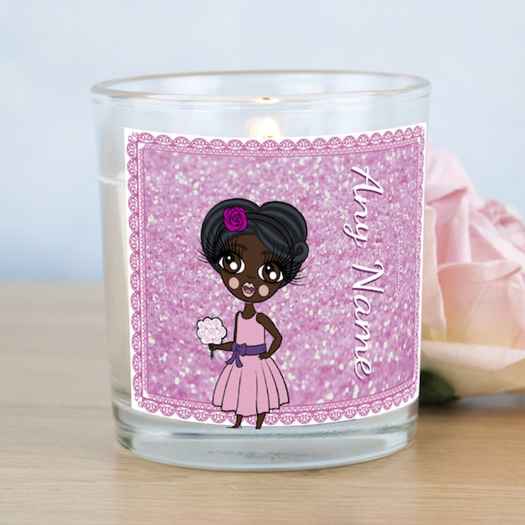 ClaireaBella Girls Pink Glitter Scented Candle - Image 1