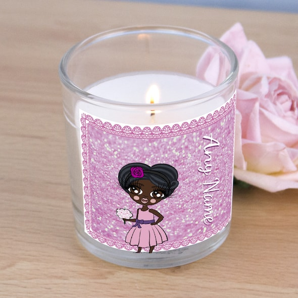ClaireaBella Girls Pink Glitter Scented Candle - Image 2