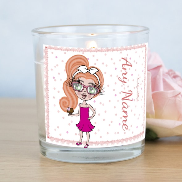 ClaireaBella Girls Pink Confetti Scented Candle - Image 1