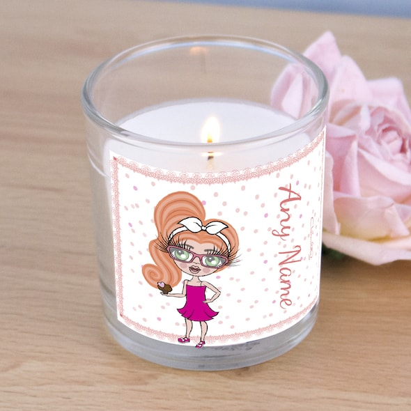 ClaireaBella Girls Pink Confetti Scented Candle - Image 2