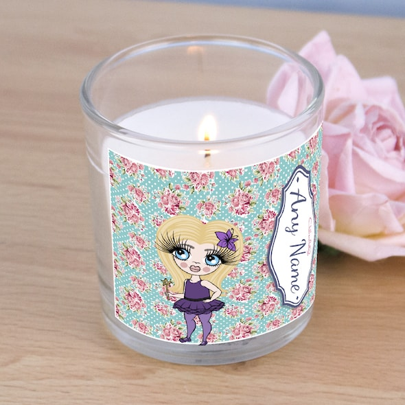 ClaireaBella Girls Rose Print Scented Candle - Image 2