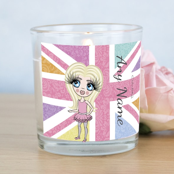 ClaireaBella Girls Union Jack Scented Candle - Image 1