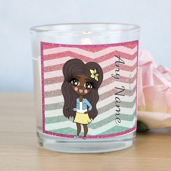 ClaireaBella Girls Zig Zag Sparkle Scented Candle - Image 1