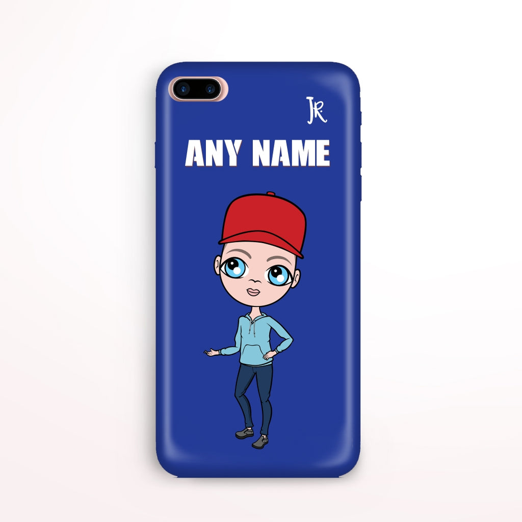 Jnr Boys Blue Phone Case - Image 1