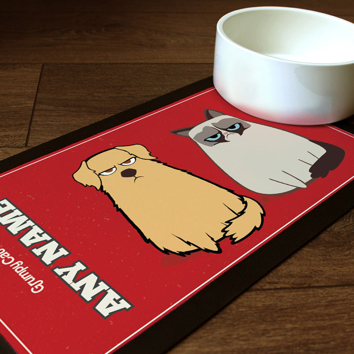 Grumpy Cat Red Pet Mat