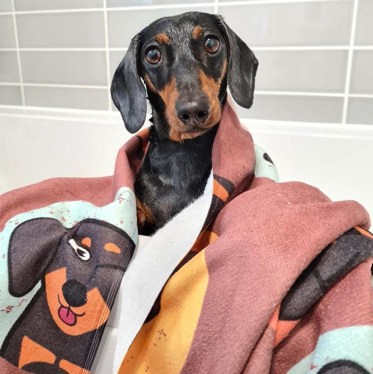 Personalised Dog Emoji Bath Towel