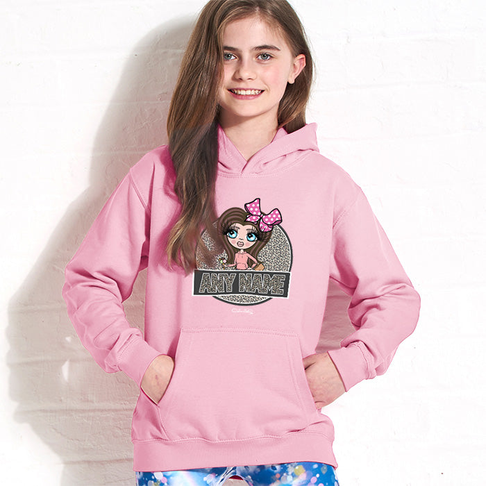 ClaireaBella Girls Animal Print Hoodie