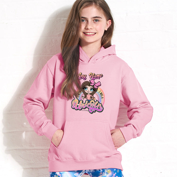 ClaireaBella Girls Unicorn Wish Hoodie
