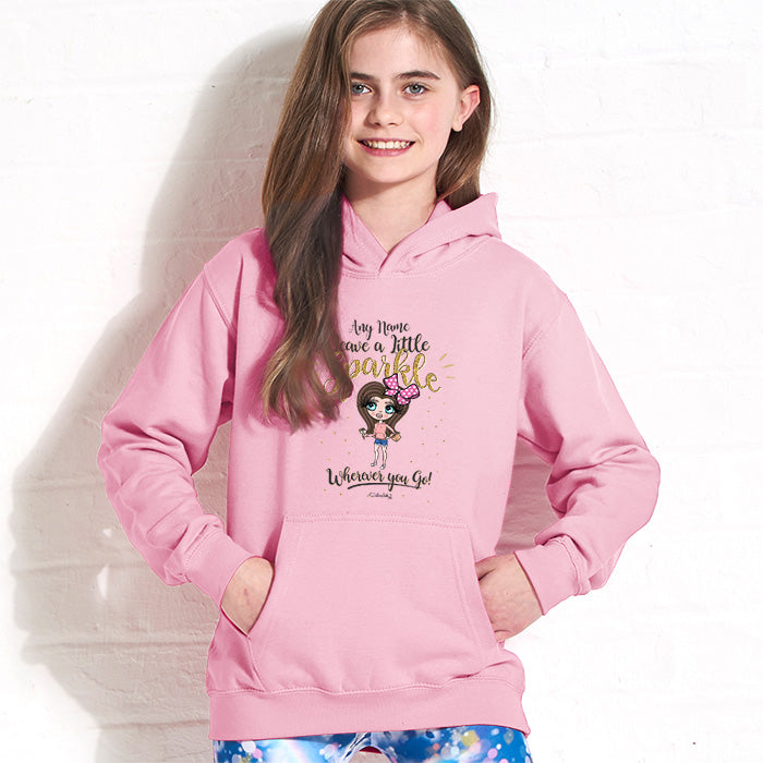 ClaireaBella Girls A Little Sparkle Hoodie