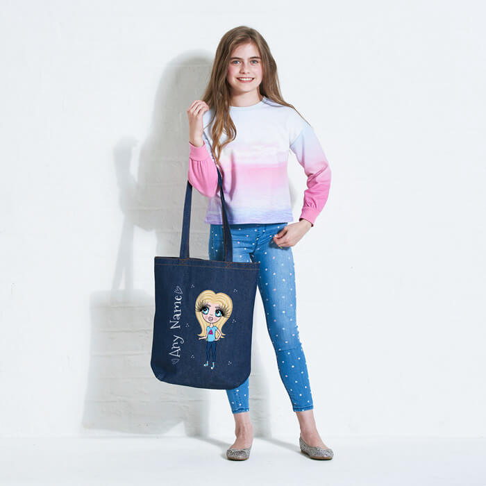 ClaireaBella Denim Girls Canvas Bag