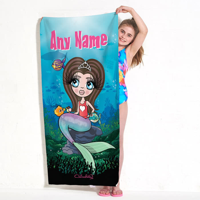 ClaireaBella Girls Mermaid Beach Towel
