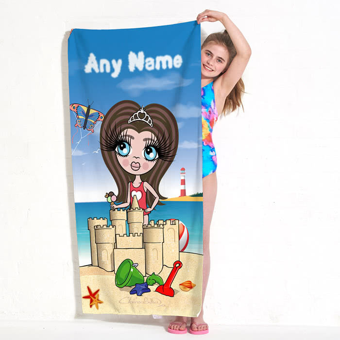 ClaireaBella Girls Sandcastle Fun Beach Towel