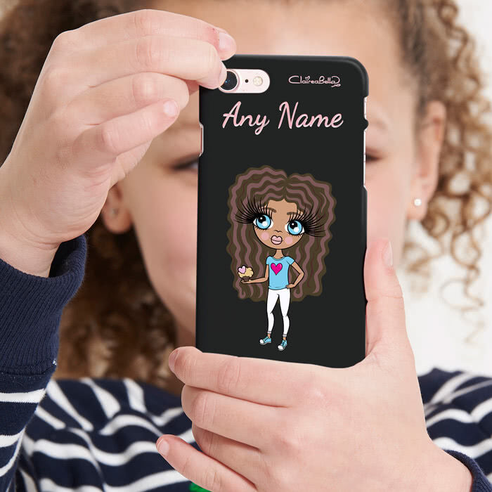 ClaireaBella Girls Personalised Black Phone Case