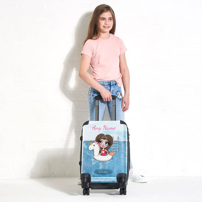 ClaireaBella Girls Unicorn Float Suitcase
