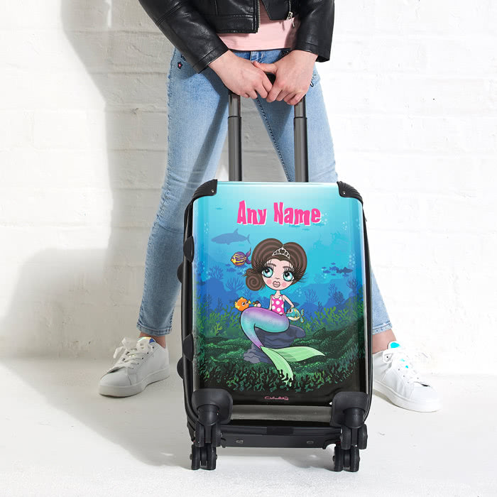 ClaireaBella Girls Mermaid Suitcase