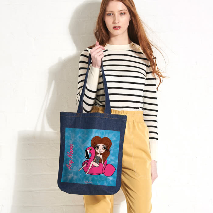 ClaireaBella Pool Side Denim Canvas Bag