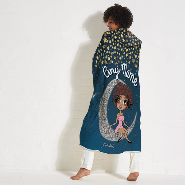 ClaireaBella Love You To The Moon Hooded Blanket