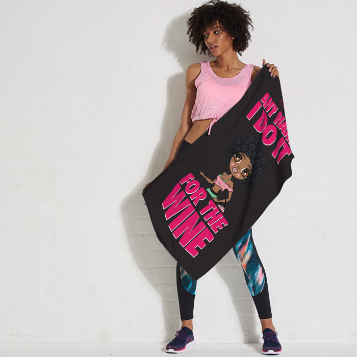 ClaireaBella Do It For The Wine Gym Towel