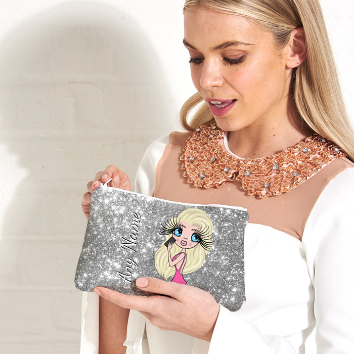 ClaireaBella Selfie Glitter Effect Make Up Bag