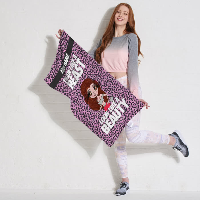 ClaireaBella Train Like A Beast Gym Towel