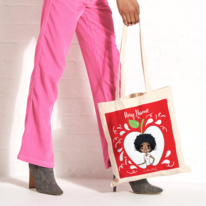 ClaireaBella Canvas Bag - Teacher's Apple