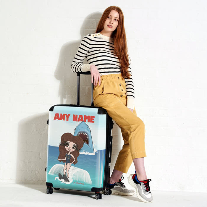 ClaireaBella Retro Shark Attack Suitcase