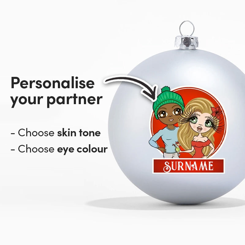 ClaireaBella Couples Personalised Shatterproof Bauble