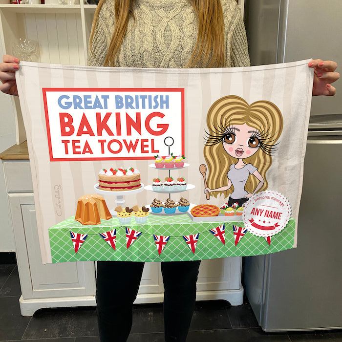 ClaireaBella Personalised Baking Competition Tea Towel
