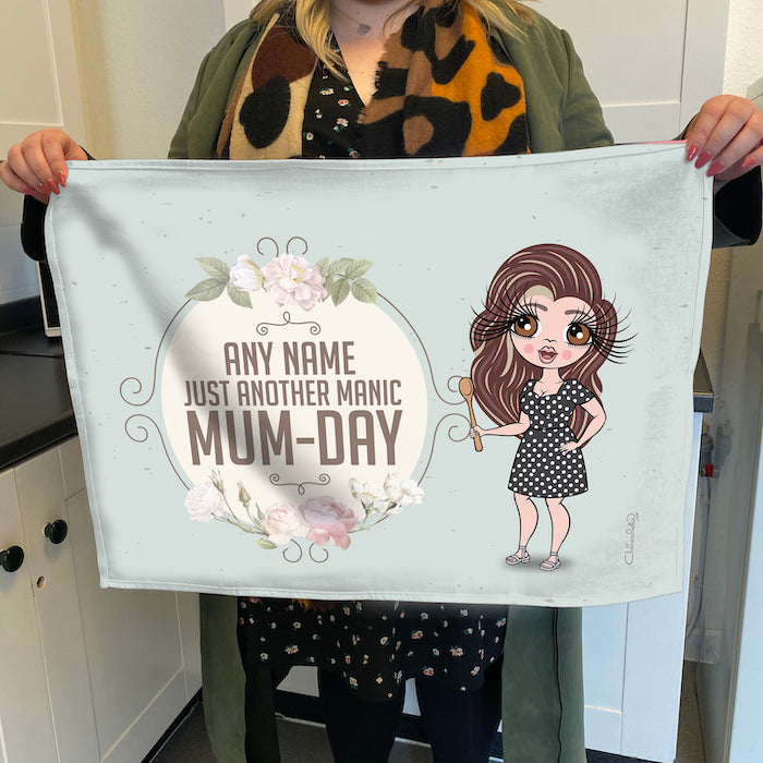 ClaireaBella Personalised Manic MumDay Tea Towel