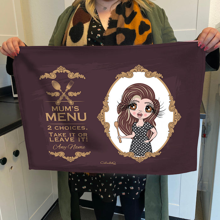 ClaireaBella Personalised Mum's Menu Tea Towel
