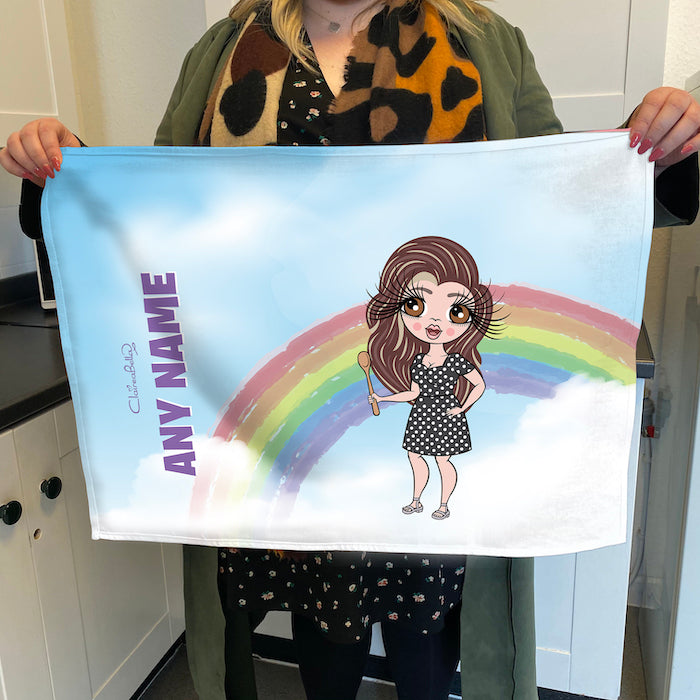 ClaireaBella Personalised Rainbow Tea Towel