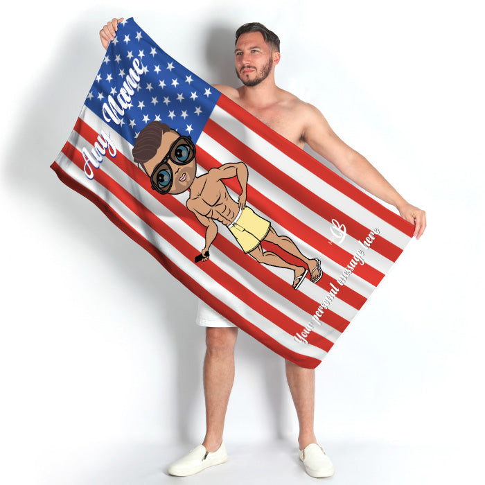 MrCB Stars & Stripes Beach Towel