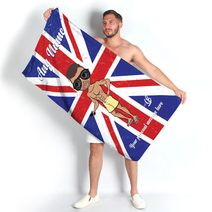 MrCB Union Jack Beach Towel